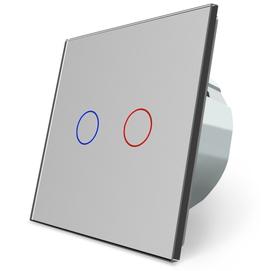 Włącznik dotykowy podwójny szary zestaw WELAIK