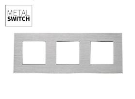 MetalSwitch ramka potrójna aluminiowa srebrna