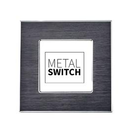 MetalSwitch ramka pojedyncza aluminiowa czarna