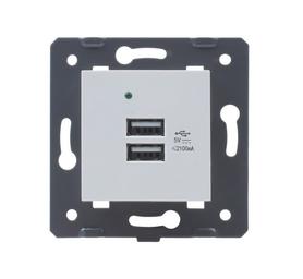 USB ładowarka podwójna biała Welaik