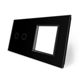 Panel szklany 2+G czarny LIVE ON LOVE