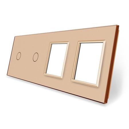 Panel szklany 1+1+G+G złoty  (1)