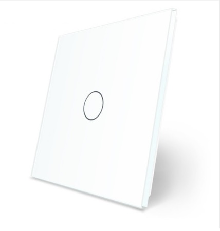 Panel szklany biały welaik