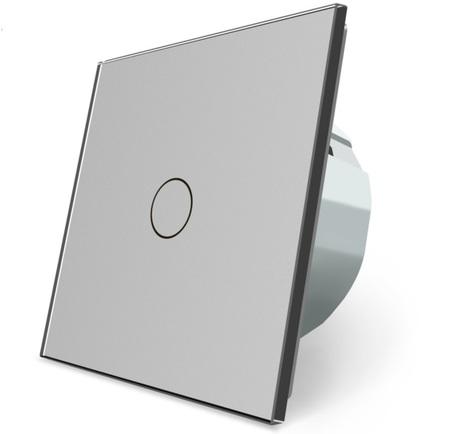 Włącznik dotykowy pojedynczy szary zestaw WELAIK (2)