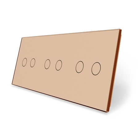 Panel szklany 2+2+2 złoty (1)