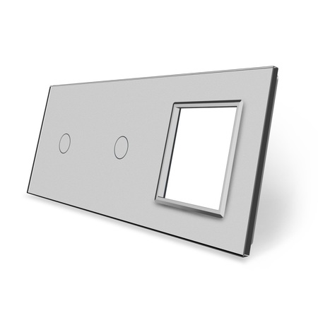 Panel szklany 1+1+G szary (1)