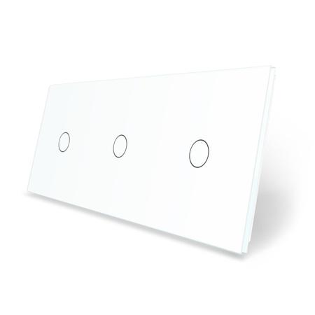 Panel szklany potrójny biały LIVE ON LOVE