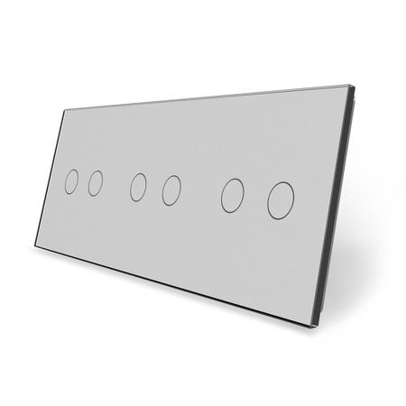 Panel szklany 2+2+2 szary  (1)