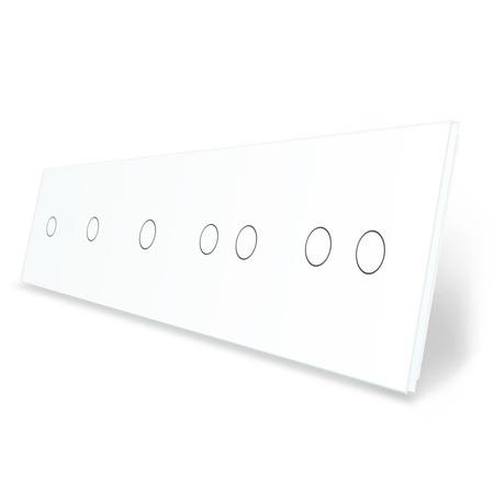 Panel szklany 1+1+1+2+2 biała do modułów LIVE ON LOVE