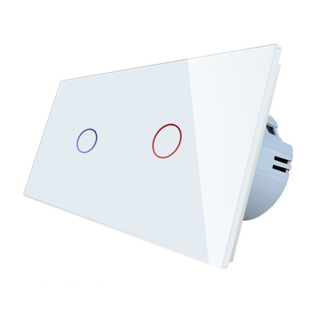 włącznik dotykowy 1+1 biały