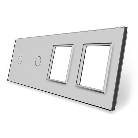 Panel szklany 1+1+G+G szary  (1)
