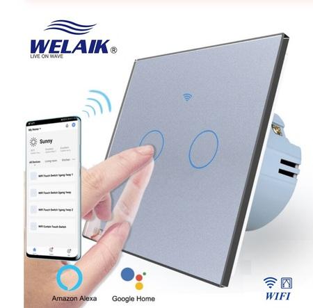 Włącznik WIFI do rolet zestaw szary WELAIK ® (1)