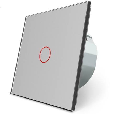 Włącznik dotykowy pojedynczy szary zestaw WELAIK (1)