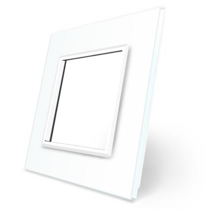Welaik szklana ramka biała