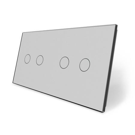 Panel szklany 2+2 szary (1)